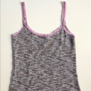 Free People | Gray & Pink Knit Camisole | Small